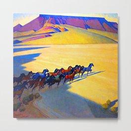 Maynard Dixon Wild Horses Metal Print
