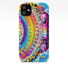 1997 Neon Rainbow Spirit Board iPhone Case