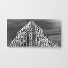 New York City, Manhattan, tall building, dramatic sky, black and white (2020-GNY70) Metal Print