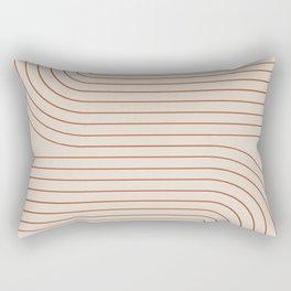 Minimal Line Curvature - Coral II Rectangular Pillow
