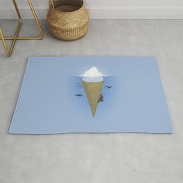 Ice Cream and Whale Rug
