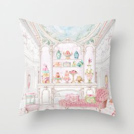 French Patisserie  Throw Pillow