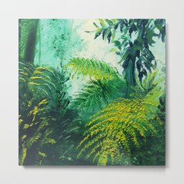 Rainforest Lights and Shadows Metal Print