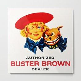 Vintage Buster Brown Shoes Dealer Sign - Poster Metal Print