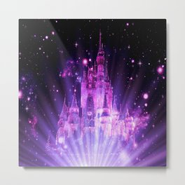 Purple Enchanted Castle Metal Print