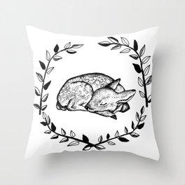 Sleeping Baby Deer Throw Pillow