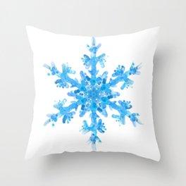 Snow Crystal II Throw Pillow
