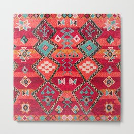 18 - Traditional Colored Epic Anthique Bohemian Moroccan Artwork Metal Print