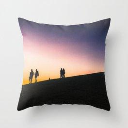 Sunset on a Hill Throw Pillow