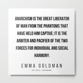28    Emma Goldman Quotes   200602 Metal Print