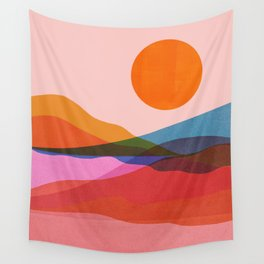 Abstraction_OCEAN_Beach_Minimalism_001 Wall Tapestry