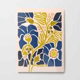 Modern floral illustration; Backyard flower Metal Print