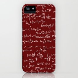Math Equations // Maroon iPhone Case