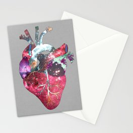 Superstar Heart (on grey) Stationery Cards