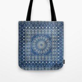 Old Bookshop Magic Mandala in Blue Tote Bag