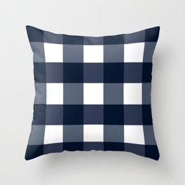 Navy Buffalo Check Throw Pillow