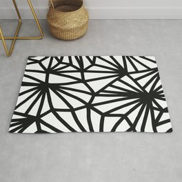 Modern Black and White geometric pattern #abstractart #decor Rug
