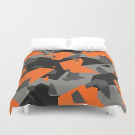 Black\Grey\Orange Geometric camo Duvet Cover