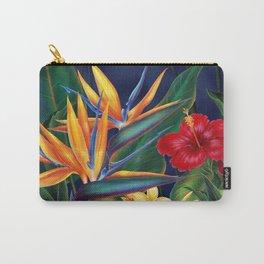 Tropical Paradise Hawaiian Floral Illustration Tasche