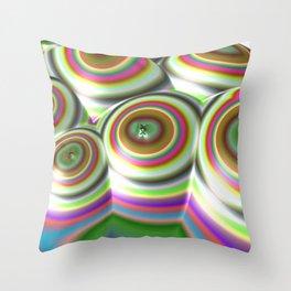 Candylands (3D Digital Fractal Art) Throw Pillow