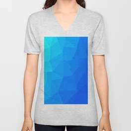 Blue Polygonal Art Unisex V-Neck
