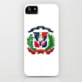 seal of the dominican republic-dominican,hispaniola,dominicana,antilles,caribean,santo domingo iPhone Case
