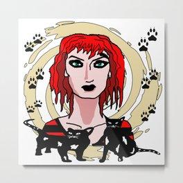 The Cat Enchantress Metal Print