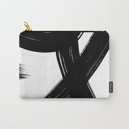Black Abstract Brush Strokes nr 1 Carry-All Pouch