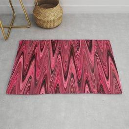Zigzag Deep Pink Rug
