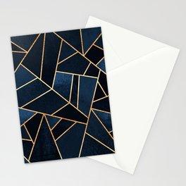 Navy Stone Stationery Cards