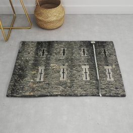Tower of London Casemate Defensive Wall Medieval Castle England Rug