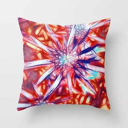 Star Bright in Red Throw Pillow