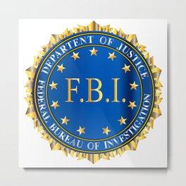 FBI Spoof Seal Metal Print