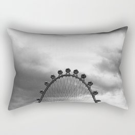 Back Side of the Link // London Eye Replica in Las Vegas Nevada City Strip Raw Landscape Rectangular Pillow