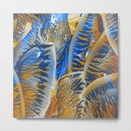 Blue Orange Abstract Metal Print