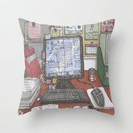 Reality at Work Throw Pillow