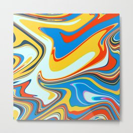 Colorful Marble Abstract Art Pattern 003 Metal Print