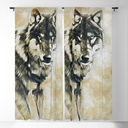 Timber Wolf Blackout Curtain