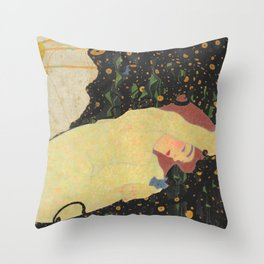 "Egon Schiele ""Daneae"" Throw Pillow"