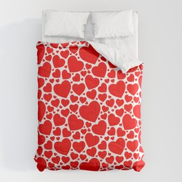 Red Hearts Pattern Comforters