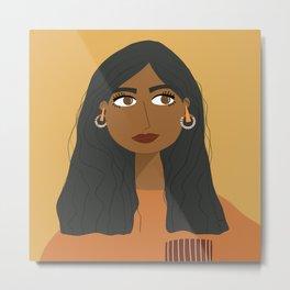 SARA | Female Digital Illustration Metal Print