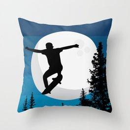 The perfect ollie trick Throw Pillow