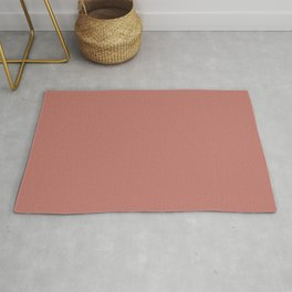 Deep Rose Pink Solid Color Pairs with Sherwin Williams Heart 2020 Forecast Color Coral Clay SW9005 Rug