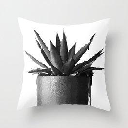 ''Nowhere Collection'' - Cacti Plant Print Throw Pillow