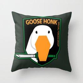 GOOSE HONK Throw Pillow