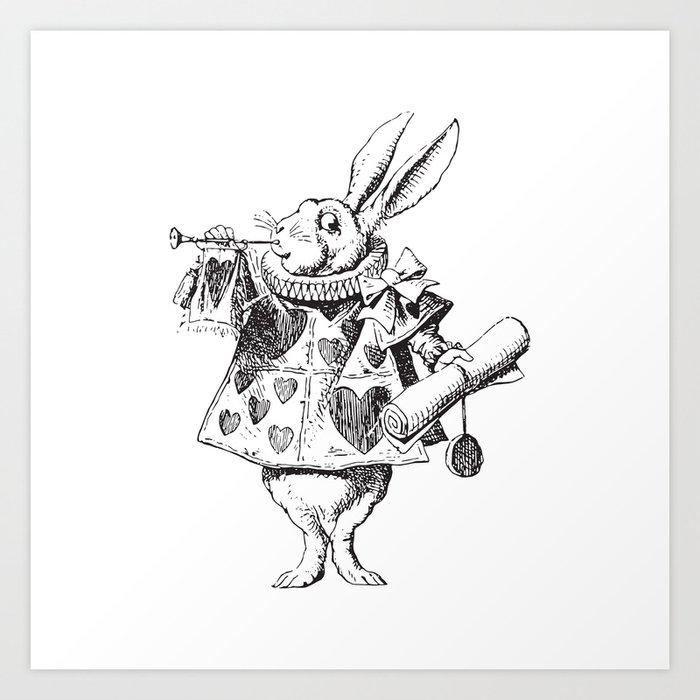 White Rabbit Alice In Wonderland Art Print By Luminariumgraphics Society6