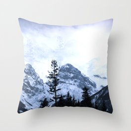 Mystic Three Sisters Mountains - Canadian Rockies Throw Pillow