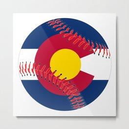 Colorado Flag Baseball Metal Print