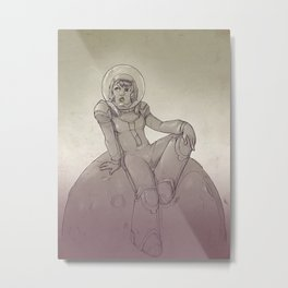 Space Gal Metal Print