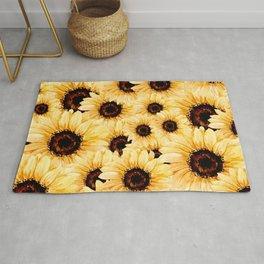 Overlay sunflower Rug